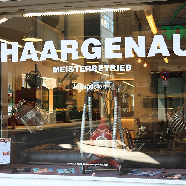 Friseur HAARGENAU Wuppertal | Schaufenster